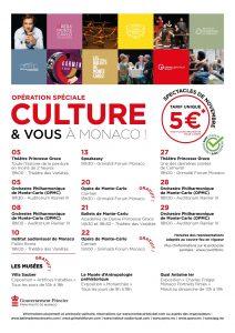 """Programme """"Culture & vous à Monaco"""""""