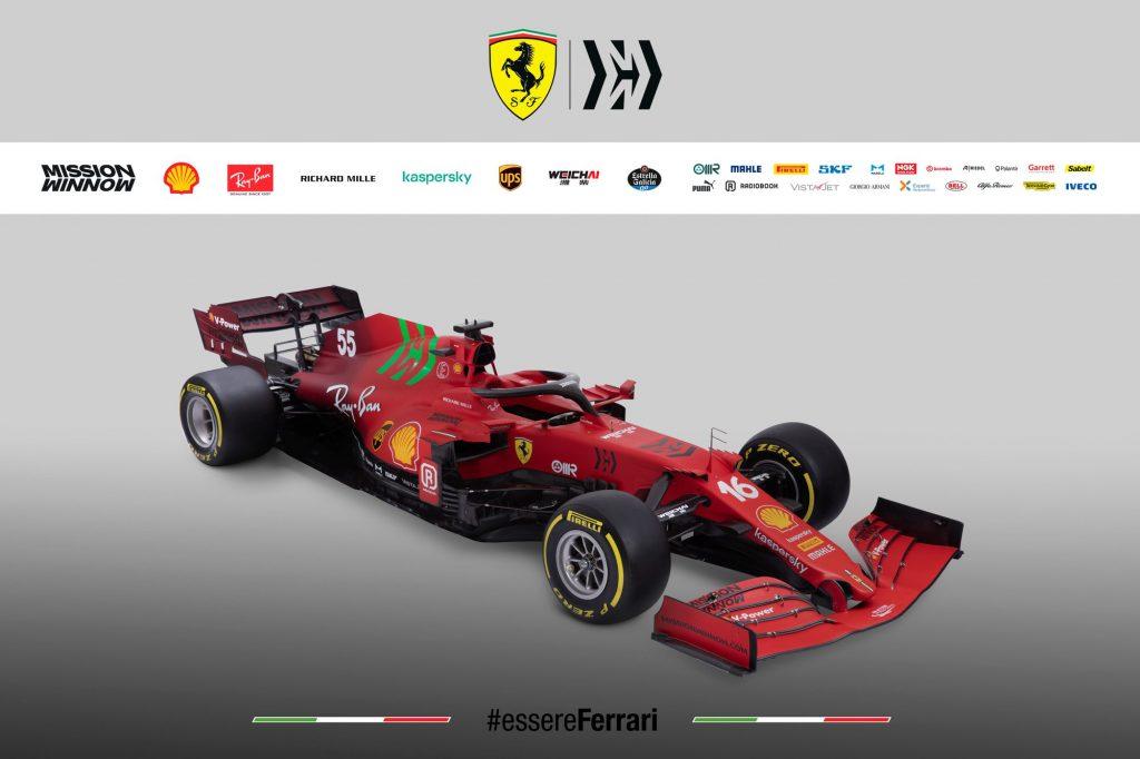 Formule 1 : La Ferrari SF21 dévoilée
